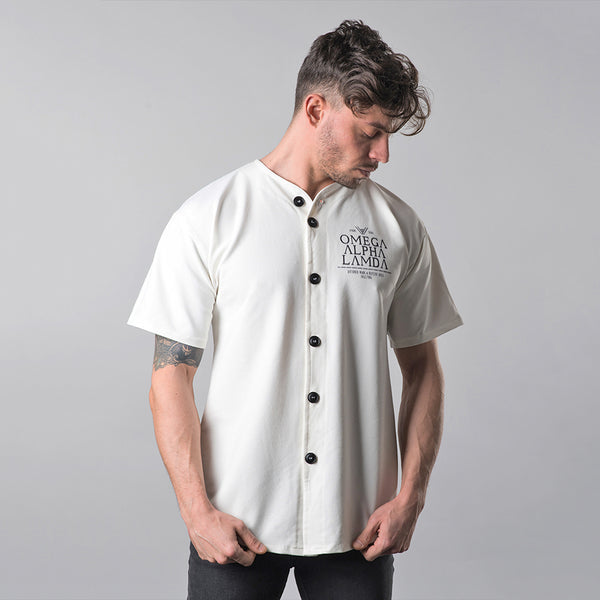 Baseball Fraternity Button Up Tee