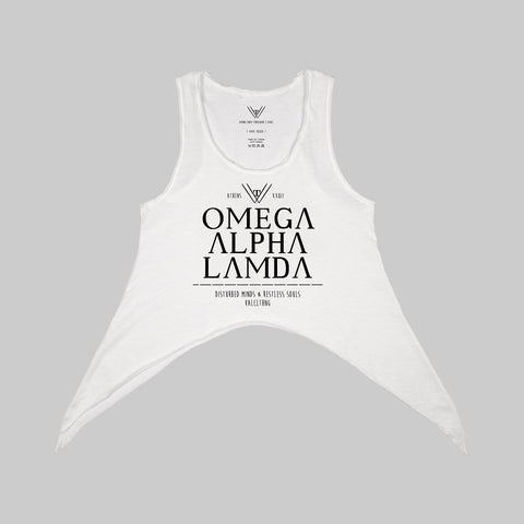 """Omega Alpha Lamda"" Asymmetrical Tank Top 