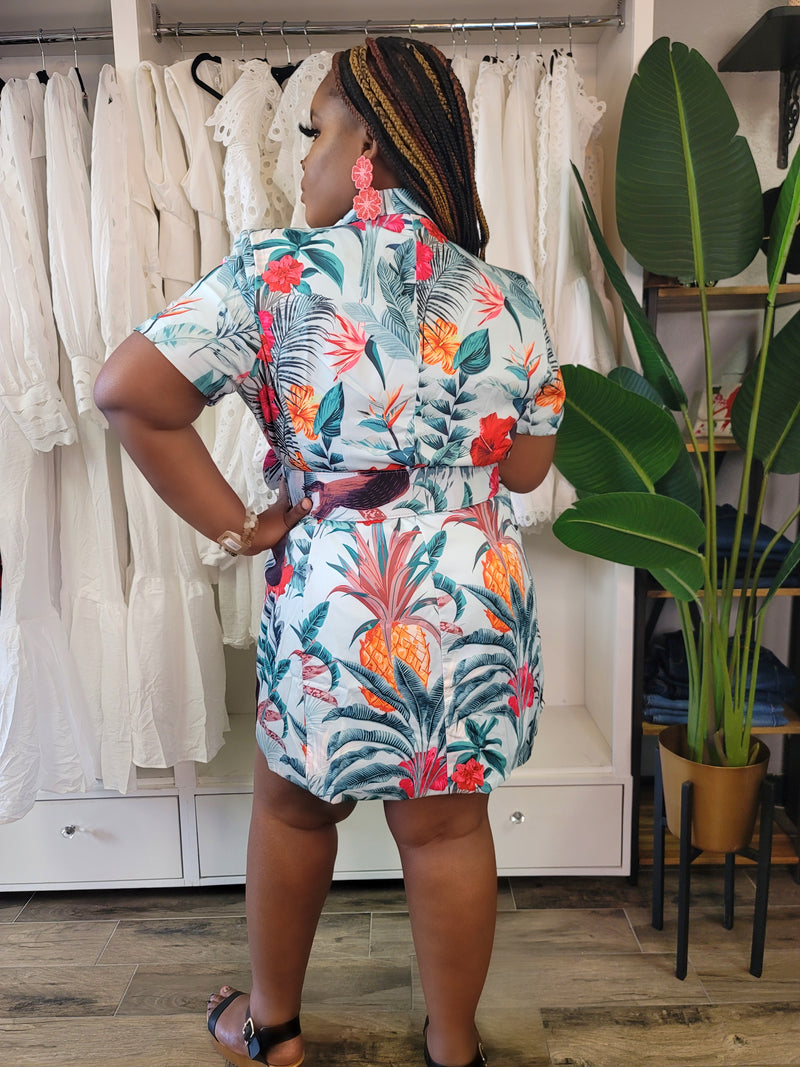 The Hawaii Belted Dress