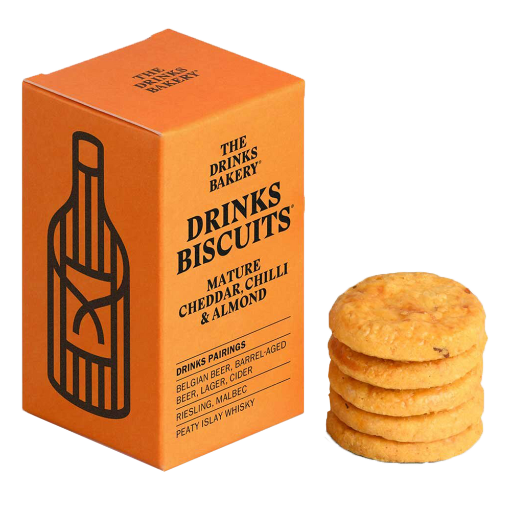 DRINKS BISCUITS – CHEDDAR, MANDEL & CHILI