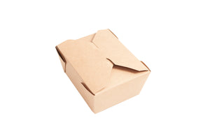 "4 5/8"" x 3 1/2"" x 2 1/2"" Kraft Microwavable Paper Box Container (#1)"