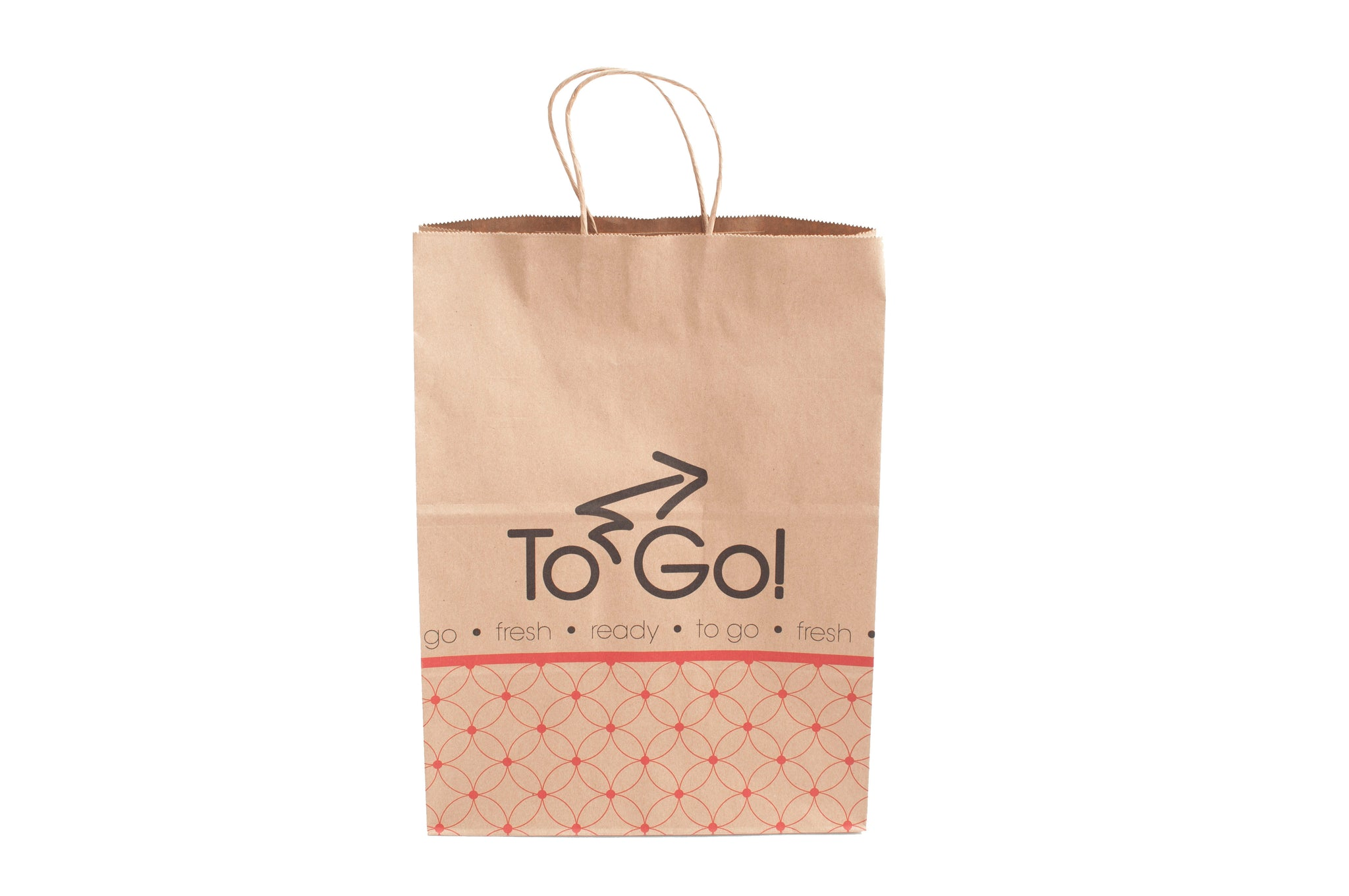 "12"" x 9"" x 16"" Kraft Paper Delivery Bag w/ Handles"