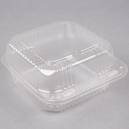 6″ Hinged Clear Plastic Clamshell Container