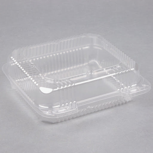 9″ Hinged Clear Plastic Clamshell Container