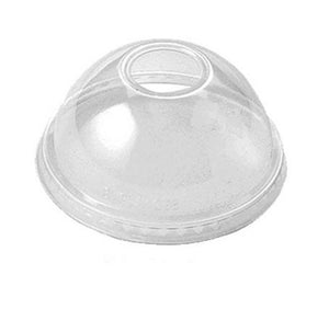 Dome Beverage Lid with Hole for 12oz Cups