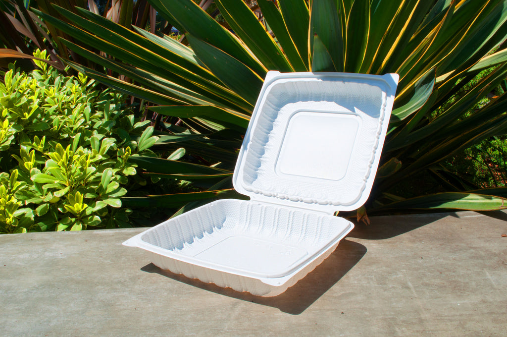 9'' Single Compartment Clamshell Box