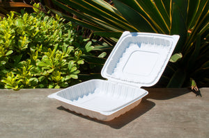 8'' Single Compartment Clamshell Box