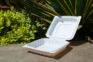 8'' Single Compartment Clamshell Box - High Version