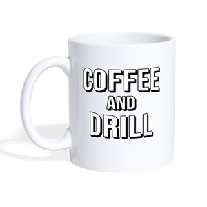 DUC Coffee and Drill Mug - white