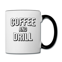 Load image into Gallery viewer, DUC Coffee and Drill mug Black - white/black