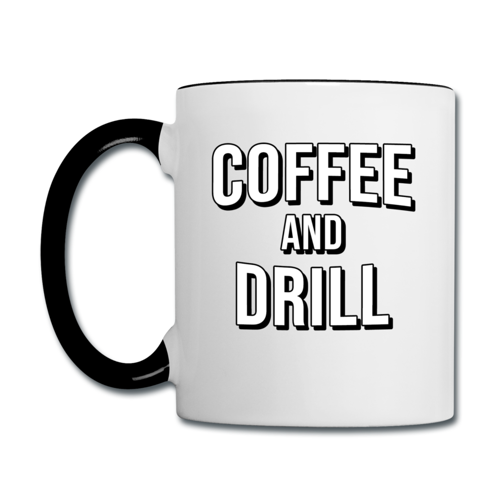 DUC Coffee and Drill mug Black - white/black