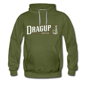 Drag Up Hoodie - olive green