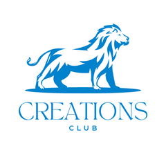 Creations Club Logo with lion