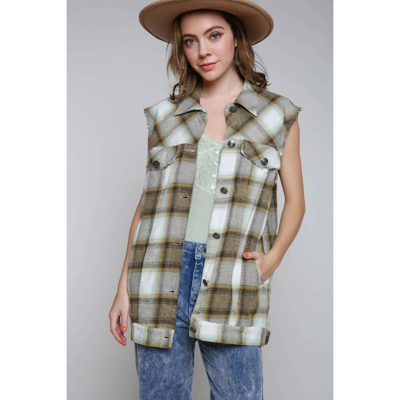 Plaid Vest Jacket