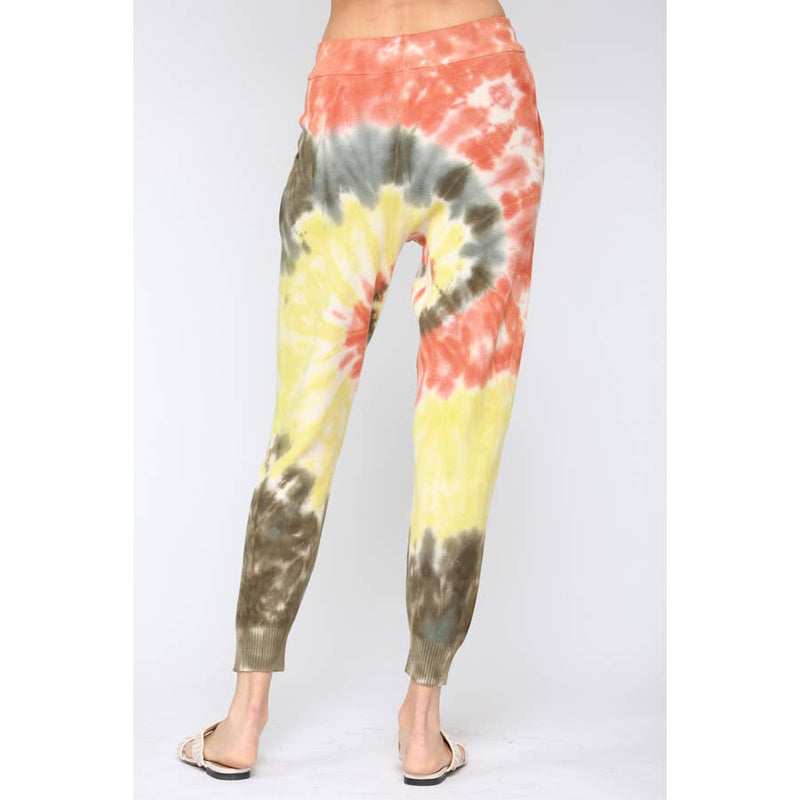 Tie Dye Distressed Sweater and Jogger Pants