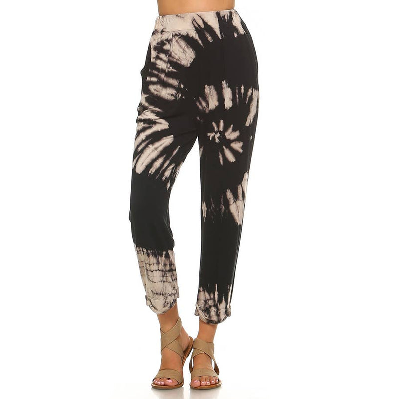 Bamboo tie-dye harem joggers