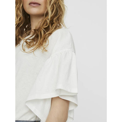 Rebecca White Butterfly Sleeve Top