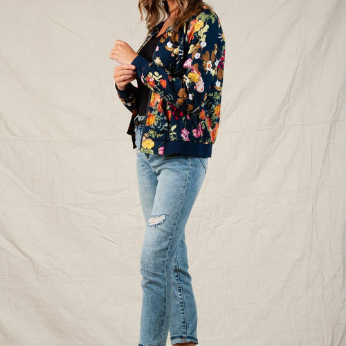 Caily Floral Bomber Jacket
