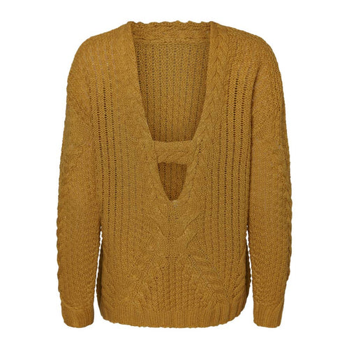 Cable V-Back Sweater
