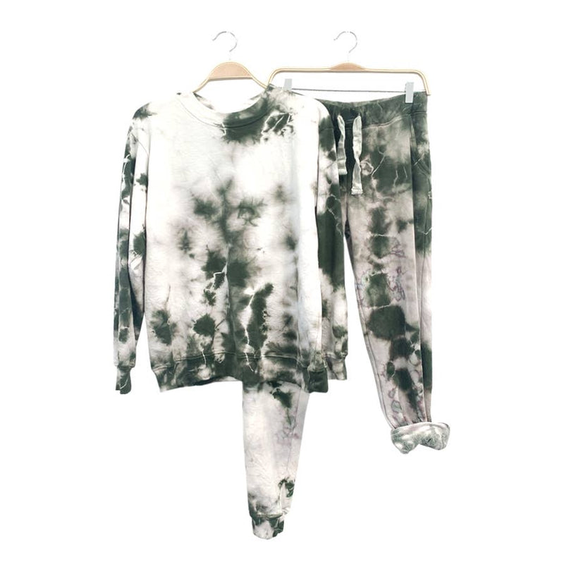 Drop Dead Pullover Tie dye Lounge set