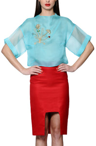 Pencil Skirt with Gulnoza Dilnoza Signature Slit