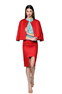 Modern Tailored Red Cotton Jacket