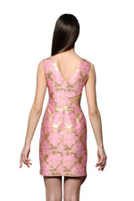 Load image into Gallery viewer, Jewel Embellished and Embroidered Silk Jacquard Asymmetric Dress