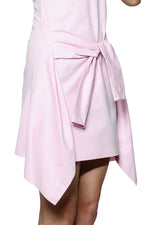 Load image into Gallery viewer, Peony Pink Tailored Poplin Dress