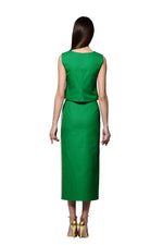 Load image into Gallery viewer, Green Sleeveles Top with Jewel Embellishments