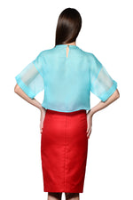 Load image into Gallery viewer, Pencil Skirt with Gulnoza Dilnoza Signature Slit