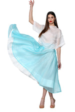 Load image into Gallery viewer, Silk Organza Maxi Skirt