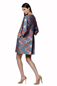 Silk Jacquard Trench Coat