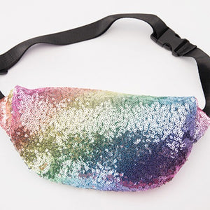 Rainbow Sequin Fanny Pack