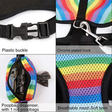 Load image into Gallery viewer, Rainbow Dog Harness and Leash