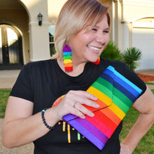 Load image into Gallery viewer, Silk Rainbow Clutch