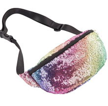 Load image into Gallery viewer, Rainbow Sequin Fanny Pack