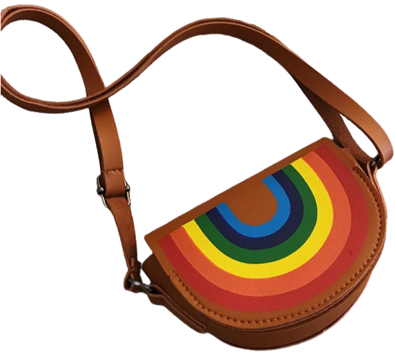 Girls Mini Rainbow Purse