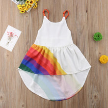 Load image into Gallery viewer, Kids Toddler Girls Rainbow Dress