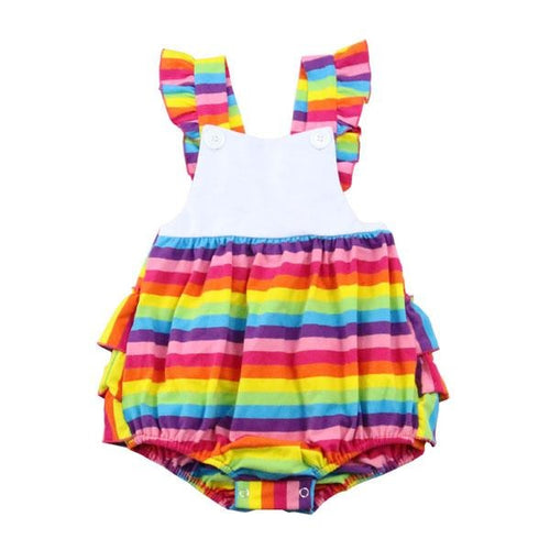 Rainbow Girl Romper - Rainbow Diva