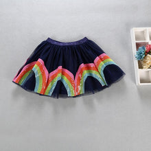 Load image into Gallery viewer, Navy Blue Rainbow Tutu Skirt For Kids Toddlers