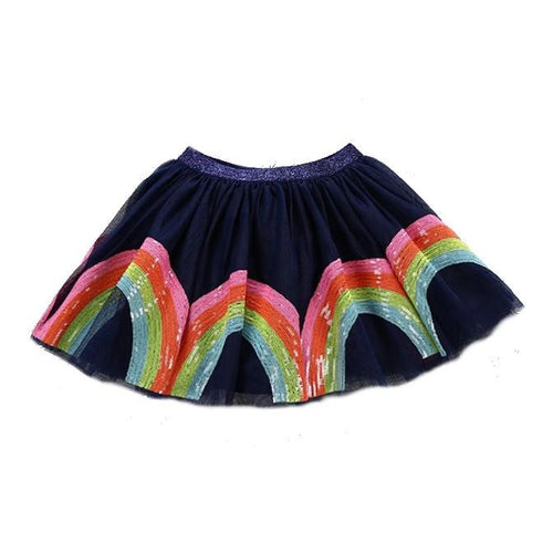 Navy Blue Rainbow Tutu Skirt For Kids Toddlers