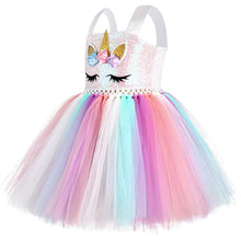 Load image into Gallery viewer, Unicorn Costume Rainbow Dress for Kids Toddlers Little Girls