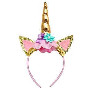 Rainbow Unicorn Headset That Matches Unicorn Dress for Girls Toddlers Kids