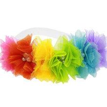 Load image into Gallery viewer, Kids Toddler Baby Rainbow Flower Headband for Girls