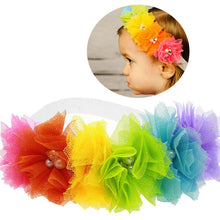 Load image into Gallery viewer, Kids Toddler Baby Rainbow Flower Headband