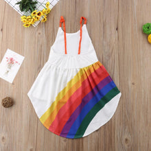 Load image into Gallery viewer, Rainbow Dress for Kids Toddlers Girls
