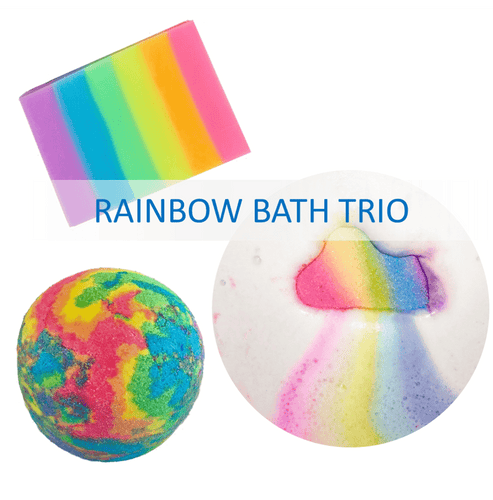 Rainbow Bath Set of 3 - Rainbow Diva