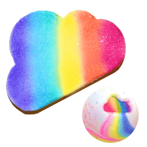 Rainbow Cloud Bath Bomb - Rainbow Diva