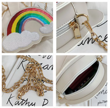 Load image into Gallery viewer, Rainbow Sequin Purse
