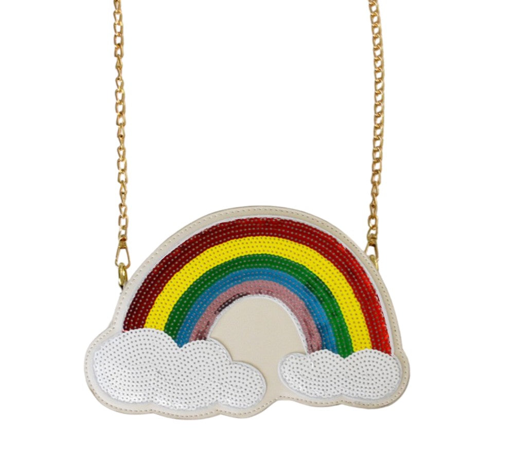 Rainbow Sequin Purse